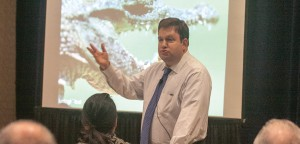 Luncheon speaker Dr. Frank Luntz, pollster, media pundit and author of Words that Work.