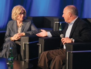 CalChamber President and CEO Allan Zaremberg asks Nancy McFadden, executive secretary to Governor Edmund G. Brown Jr., about the administration's priorities for the Governor's final term on the second day of the public affairs conference.