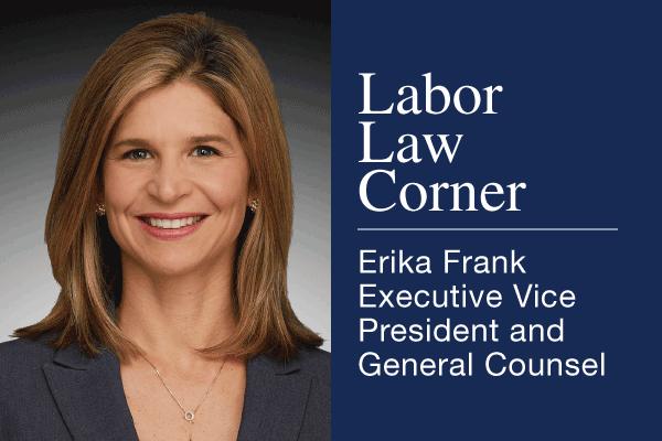 Labor Law Corner, Erika Frank