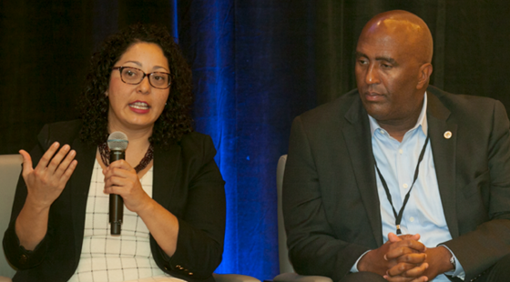 Cristina Garcia (D-Bell Gardens), and Jim Cooper (D-Elk Grove) share personal anecdotes and touch on the upcoming priorities of their respective caucuses at the CalChamber Public Affairs Conference on November 30, 2016..