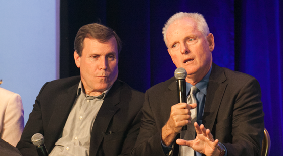 Senator-Elect Scott Wilk (R-Santa Clarita) and Assemblymember Tom Daly (D-Anaheim) revisit key victories and big battles from the 2015-2016 legislative session at the CalChamber Public Affairs Conference on November 30, 2016.