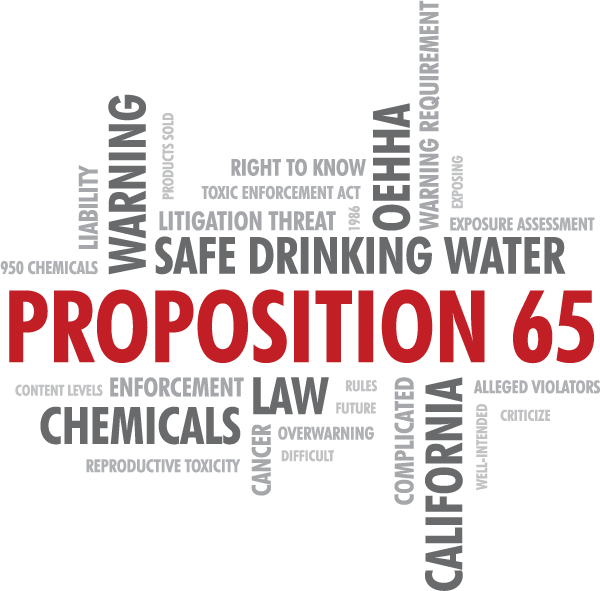 Proposition 65 Compliance Challenges Include Warning Rules