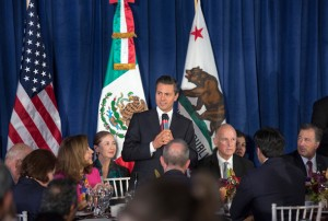 Mexico President Peña addresses attendees at the State Luncheon. photo by Robert Durell