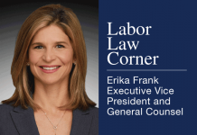 Labor Law Corner, Erika Frank