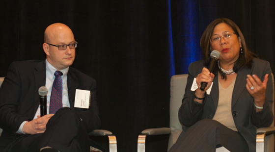 California Director of Finance Michael Cohen and California State Controller Betty Yee discussed challenges facing the state's tax system and the potential for tax reform at both the state and federal levels at the CalChamber Public Affairs Conference on November 30, 2016.