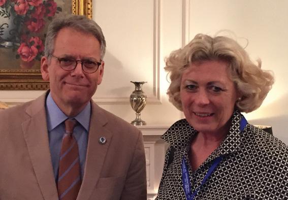 U.S. Ambassador Jeffrey DeLaurentis and Susanne Stirling